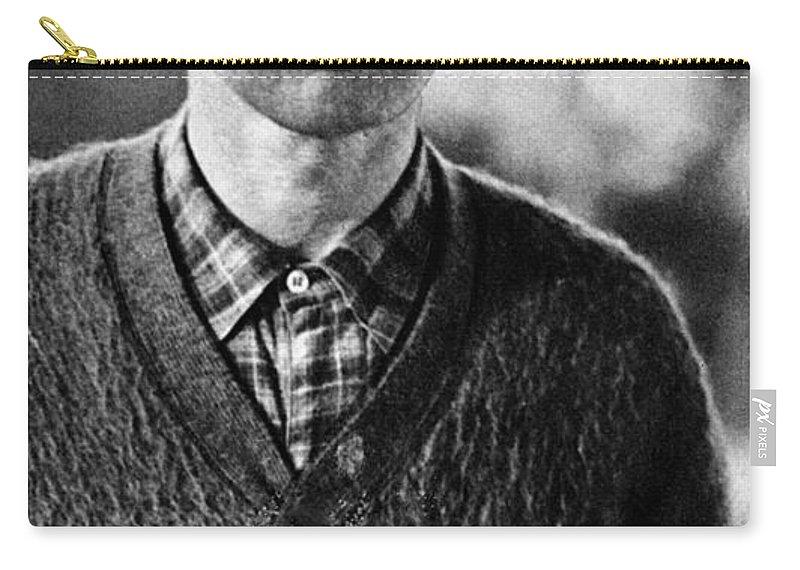 1934 Carry-all Pouch featuring the photograph Bertolt Brecht (1898-1956) by Granger