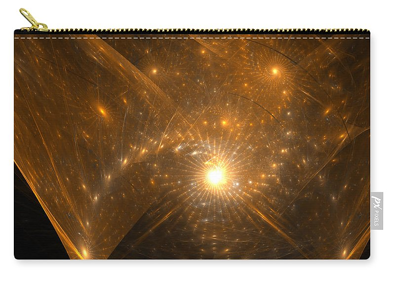 Fractal Carry-all Pouch featuring the digital art Big Bang Unfolding by Richard Ortolano