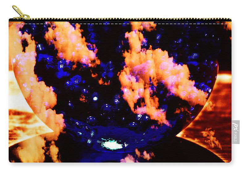 Blue Carry-all Pouch featuring the photograph Big Blue Globe Thingee by Mick Anderson