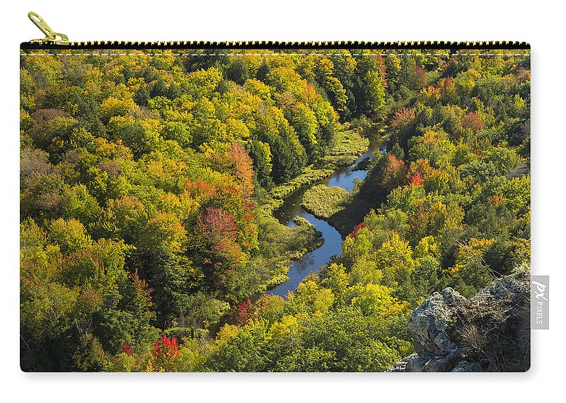 River Carry-all Pouch featuring the photograph Big Carp River 1 by John Brueske