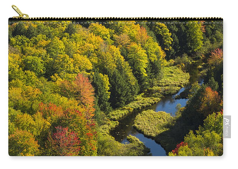 River Carry-all Pouch featuring the photograph Big Carp River 2 by John Brueske