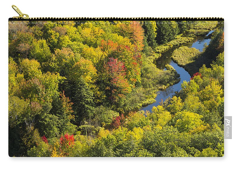 River Carry-all Pouch featuring the photograph Big Carp River 3 by John Brueske