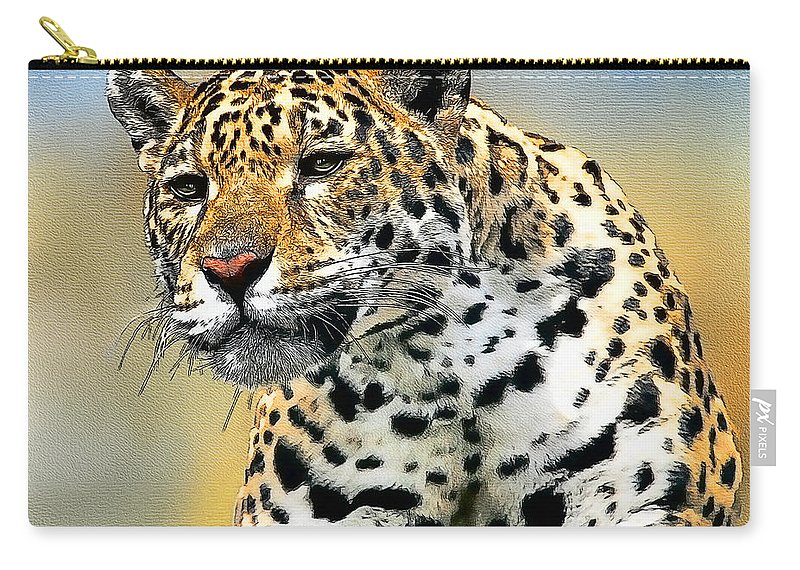 Big Cat Carry-all Pouch featuring the painting Big Cat by Tom Schmidt