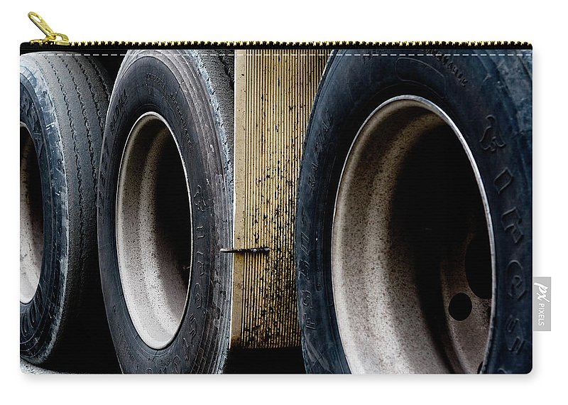 Urban Images Carry-all Pouch featuring the photograph Big Fat Tires by Lorraine Devon Wilke