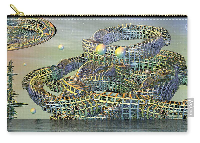 Phil Sadler Carry-all Pouch featuring the digital art big by Phil Sadler