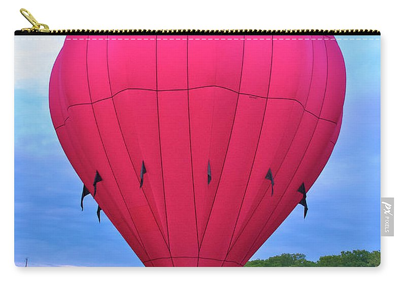 Hot Air Balloon Carry-all Pouch featuring the photograph Big Pink by Mark Dodd