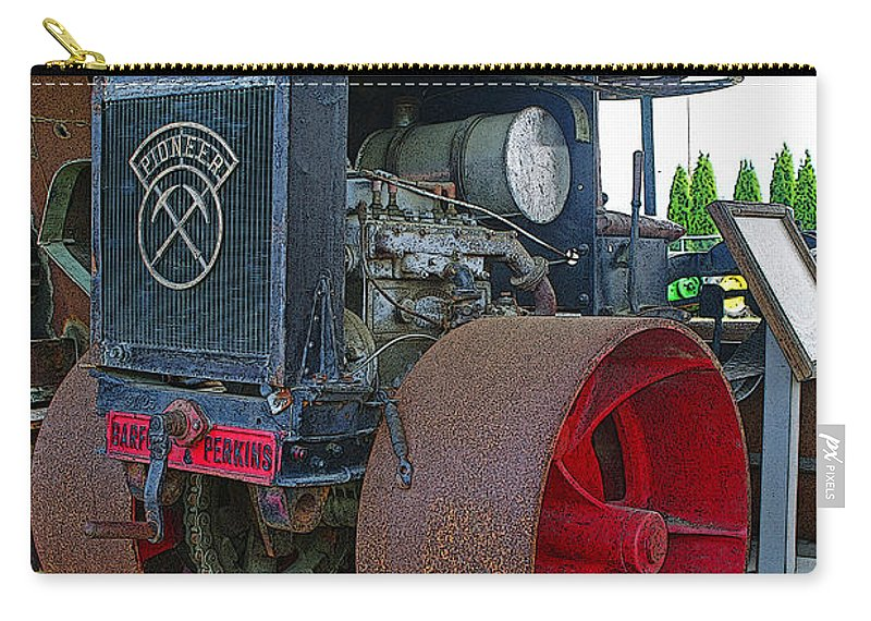 Tractors Carry-all Pouch featuring the photograph Big Steel Wheel Tractor by Randy Harris