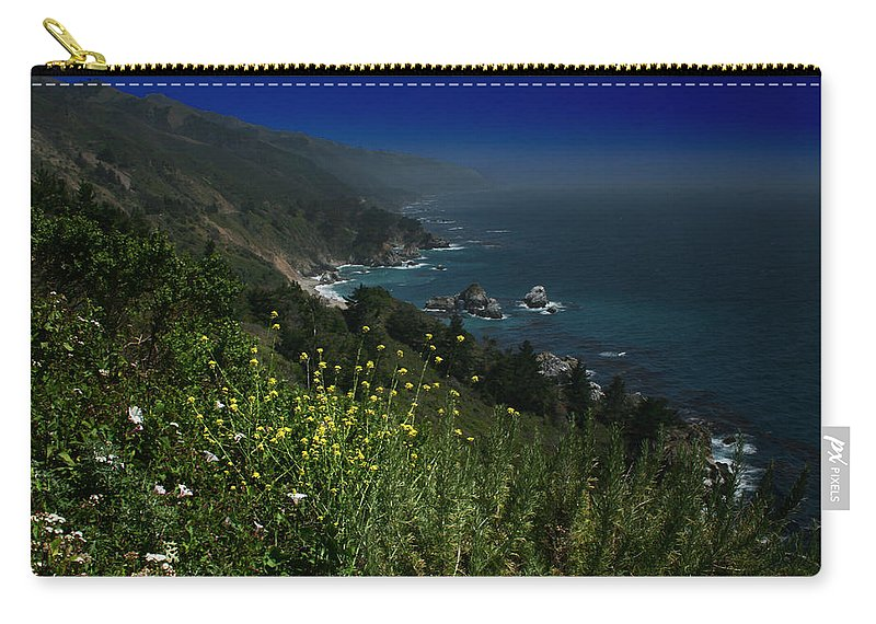 Big Sur Carry-all Pouch featuring the photograph Big Sur California by Benjamin Dahl