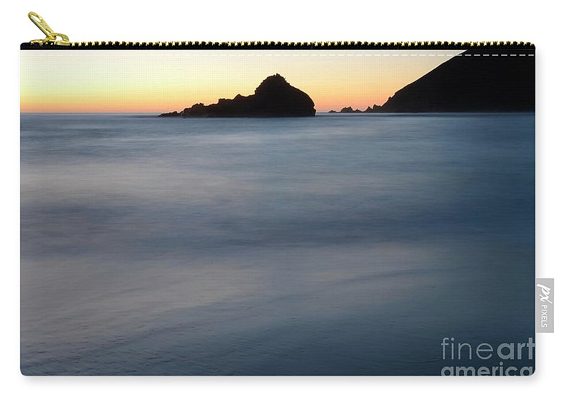 Pfeiffer Rock Carry-all Pouch featuring the photograph Big Sur Silk by Bob Christopher