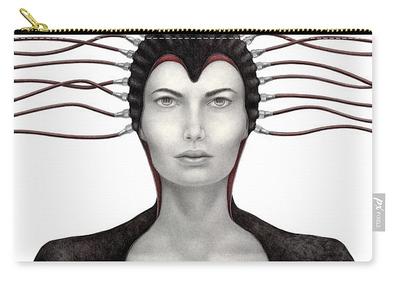 Woman Carry-all Pouch featuring the painting Binary Existence by Pat Erickson