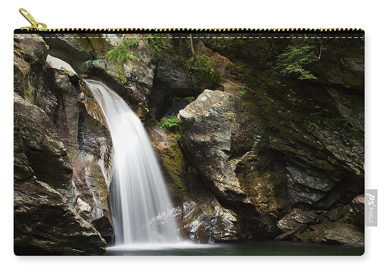 Waterfall Carry-all Pouch featuring the photograph Bingham Falls Stowe Vermont by Stephanie McDowell