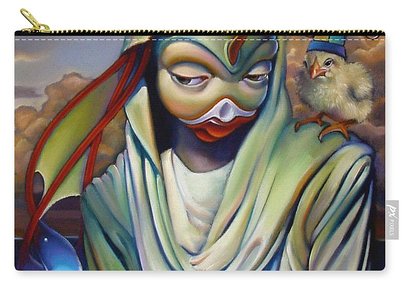 Chicken Carry-all Pouch featuring the painting Binky's Mistress by Patrick Anthony Pierson