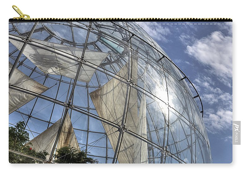 Biosphere Carry-all Pouch featuring the photograph biosfera in Genoa by Joana Kruse