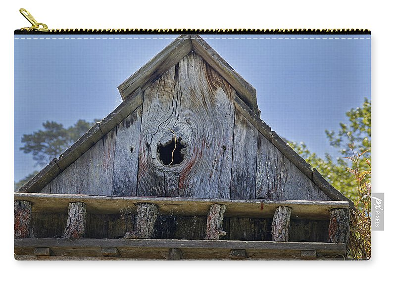 Central Coast Carry-all Pouch featuring the photograph Birdhouse In Cambria by Mick Anderson