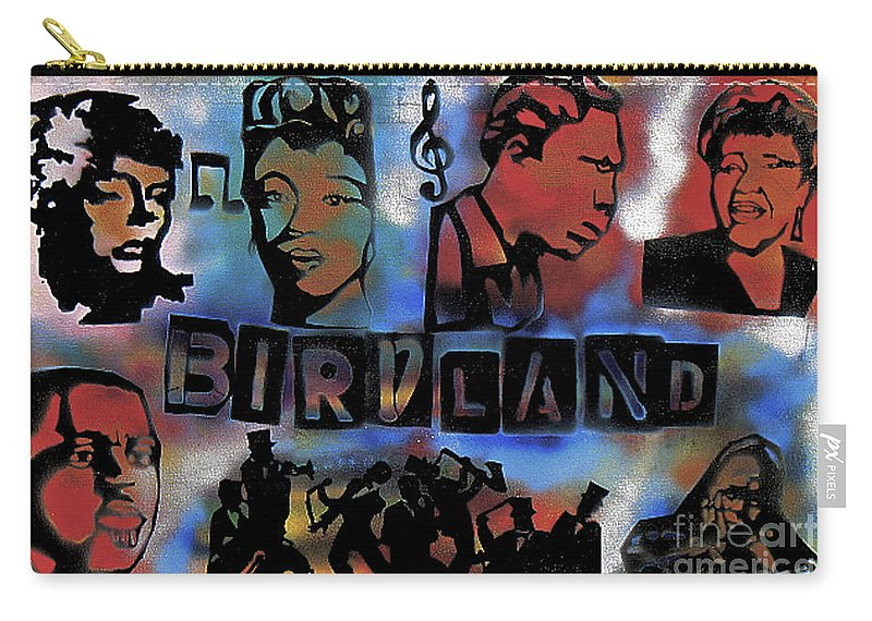 Jazz Carry-all Pouch featuring the painting Birdland by Tony B Conscious