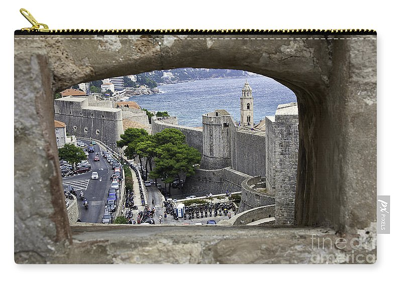 Dubrovnik Carry-all Pouch featuring the photograph Bird's Eye View Of Dubrovnik by Madeline Ellis