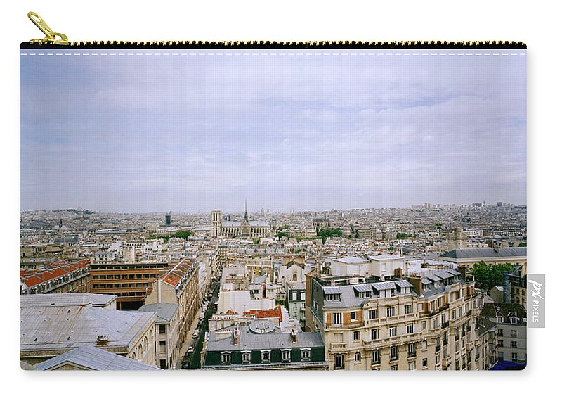 Paris Carry-all Pouch featuring the photograph Panoramic Paris by Shaun Higson