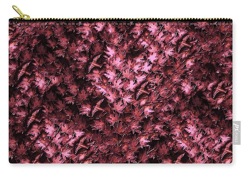 Digital Art Carry-all Pouch featuring the digital art Birds In Redviolet by David Dehner