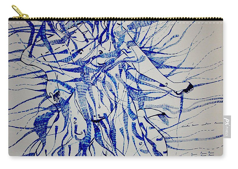 Jesus Carry-all Pouch featuring the drawing Birth by Gloria Ssali