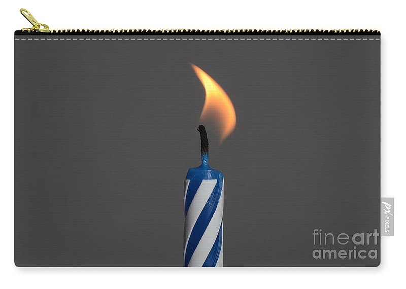 Burning Carry-all Pouch featuring the photograph Birthday Candle by Photo Researchers, Inc.