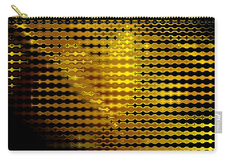 Abstract Carry-all Pouch featuring the digital art Black And Yellow Abstract I by Debbie Portwood