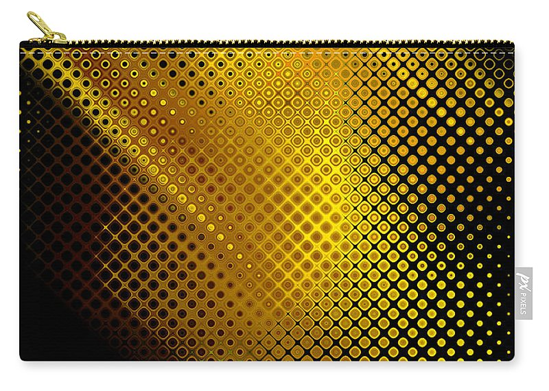 Abstract Carry-all Pouch featuring the digital art Black And Yellow Abstract II by Debbie Portwood