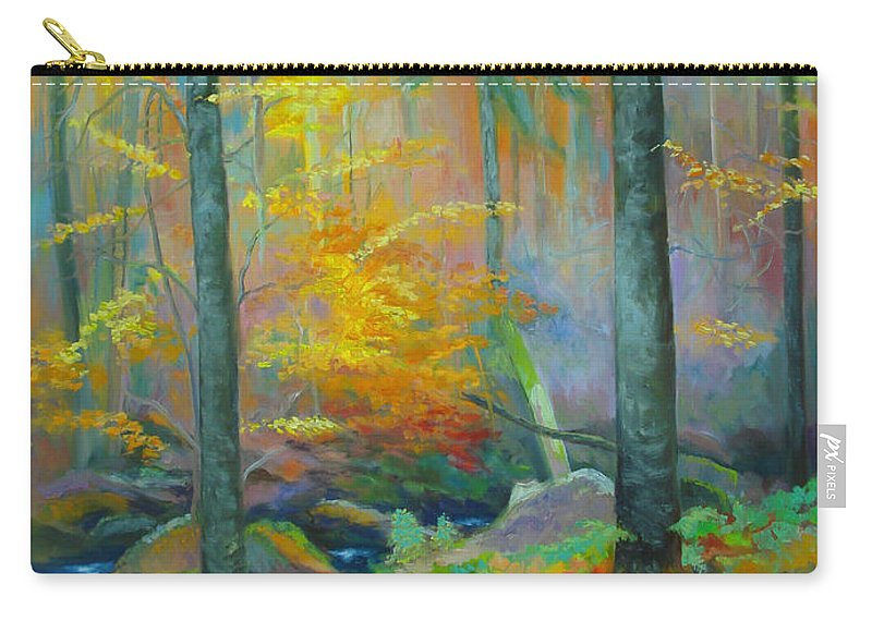 Forest Carry-all Pouch featuring the painting Black Forest Stream by Dai Wynn