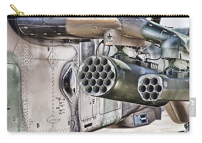 Black Hawk Carry-all Pouch featuring the photograph Black Hawk Firepower by Douglas Barnard