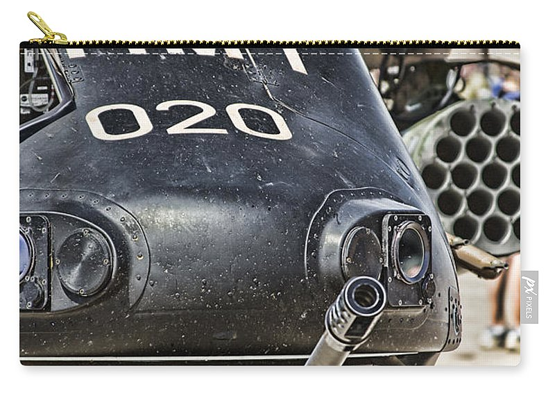 Black Hawk Carry-all Pouch featuring the photograph Black Hawk Firepower V2 by Douglas Barnard