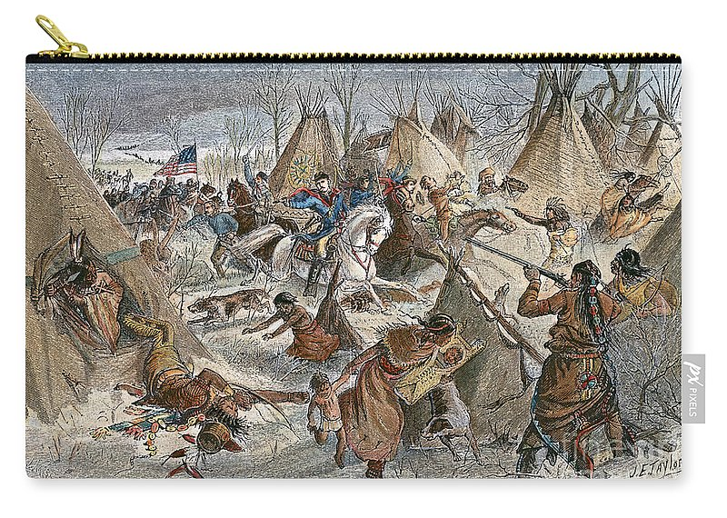 1868 Carry-all Pouch featuring the photograph Black Kettles Village by Granger
