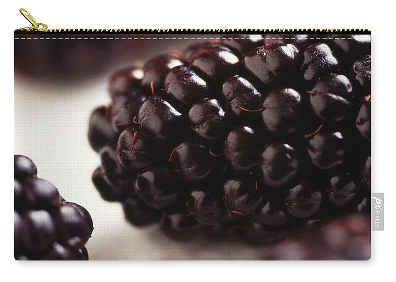 Blackberry Carry-all Pouch featuring the photograph Blackberry by Photo Researchers