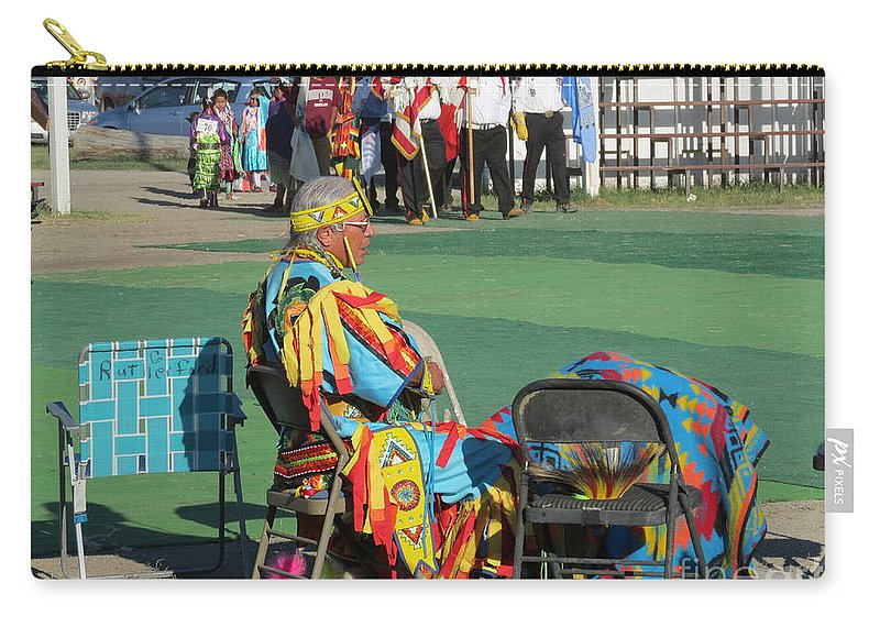Pow Wow Carry-all Pouch featuring the photograph Blackfeet Pow Wow 02 by Ausra Huntington nee Paulauskaite