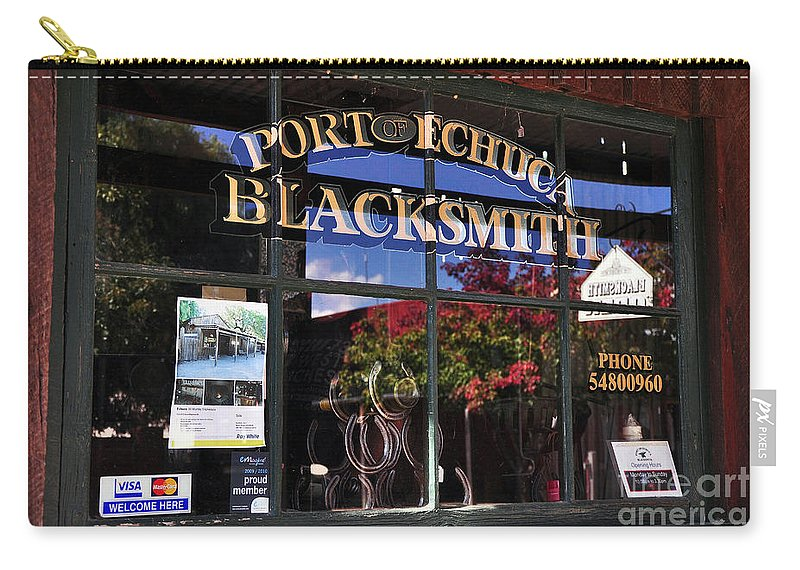 Photography Carry-all Pouch featuring the photograph Blacksmith Shop by Kaye Menner
