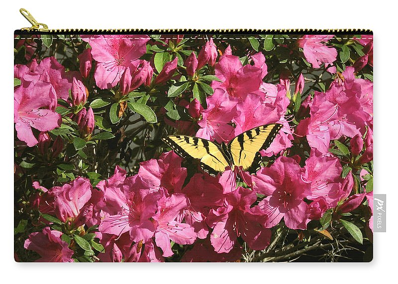 Nature Carry-all Pouch featuring the photograph Blaze Of Spring by Peg Urban