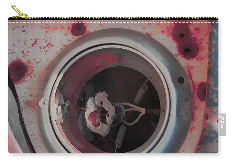 Abstract Art Carry-all Pouch featuring the photograph Bleed The Metal by The Artist Project