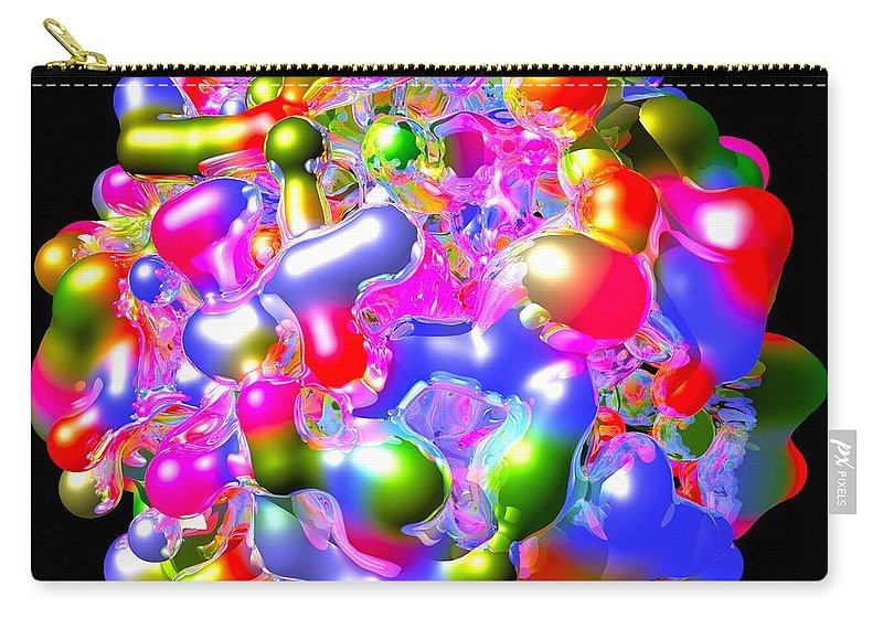 Abstract Carry-all Pouch featuring the digital art Blob Of Color... by Tim Fillingim