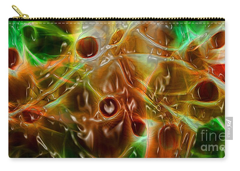 Blood Carry-all Pouch featuring the digital art Blood Work by Peter Piatt