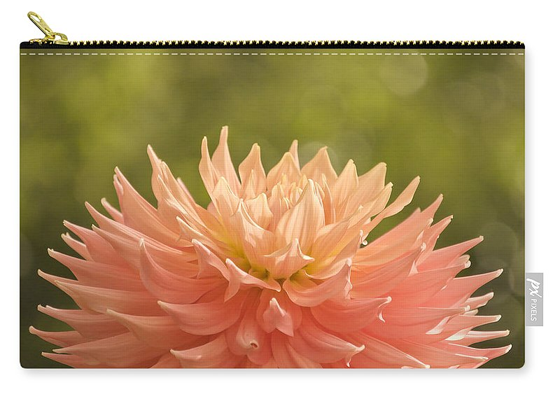 Flower Carry-all Pouch featuring the photograph Bloomin' Dahlia by Trish Tritz