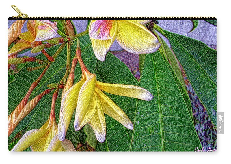 Plumeria Carry-all Pouch featuring the photograph Blooming by Carly Stroman