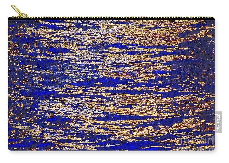 Water Carry-all Pouch featuring the photograph Blue And Gold by Crystal Nederman