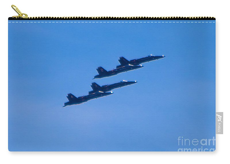 Blue Angels Carry-all Pouch featuring the photograph Blue Angels 16 by Mark Dodd