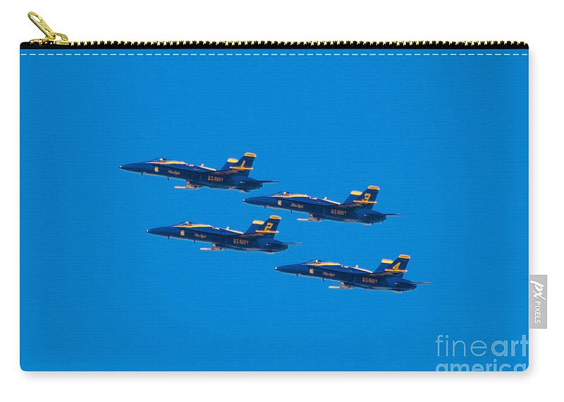 Blue Angels Carry-all Pouch featuring the photograph Blue Angels 25 by Mark Dodd