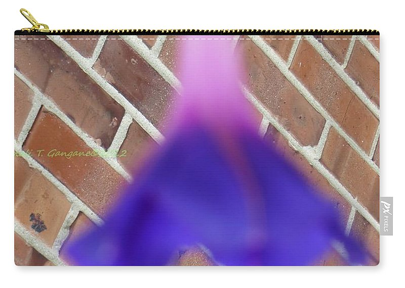Swirl Flower Carry-all Pouch featuring the photograph Blue Ballerina by Sonali Gangane