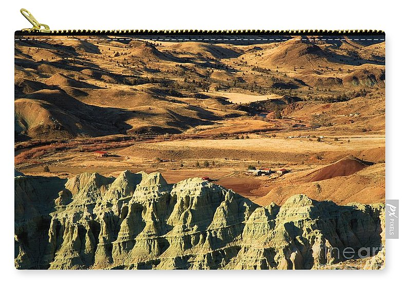 John Day Fossil Beds National Monument Carry-all Pouch featuring the photograph Blue Basin Valley by Adam Jewell