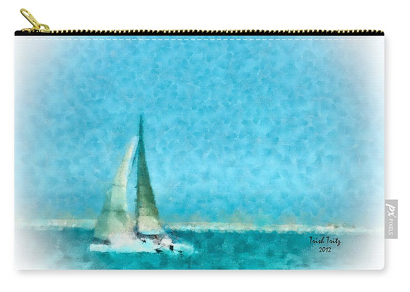 Sea Carry-all Pouch featuring the photograph Blue Bayou by Trish Tritz