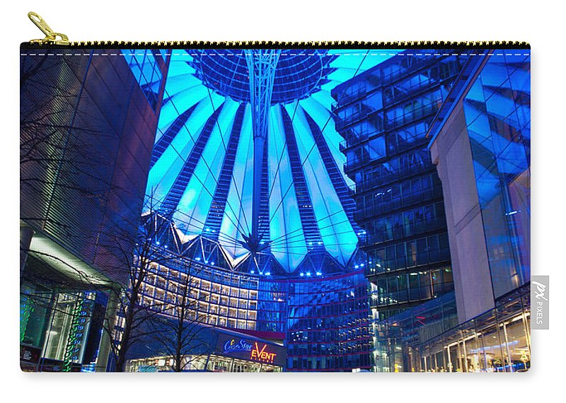 Sony Center Carry-all Pouch featuring the photograph Blue Berlin by Mike Reid
