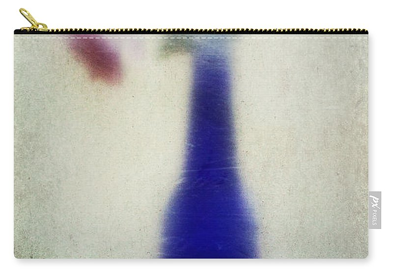 Blue Carry-all Pouch featuring the photograph Blue Bottle by Pam Holdsworth