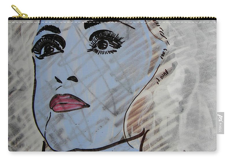 Donna Carry-all Pouch featuring the painting Blue Donna by Marwan George Khoury