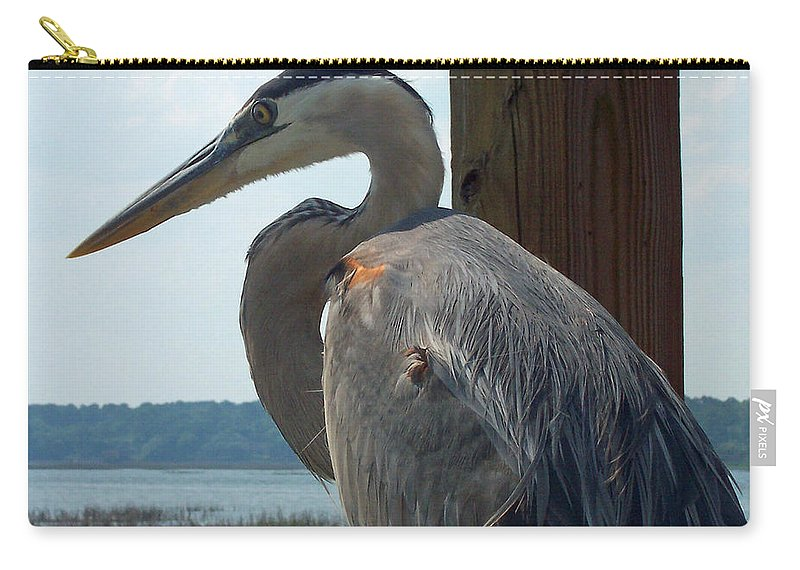 Bird Carry-all Pouch featuring the photograph Blue Heron 2 by Susan Cliett