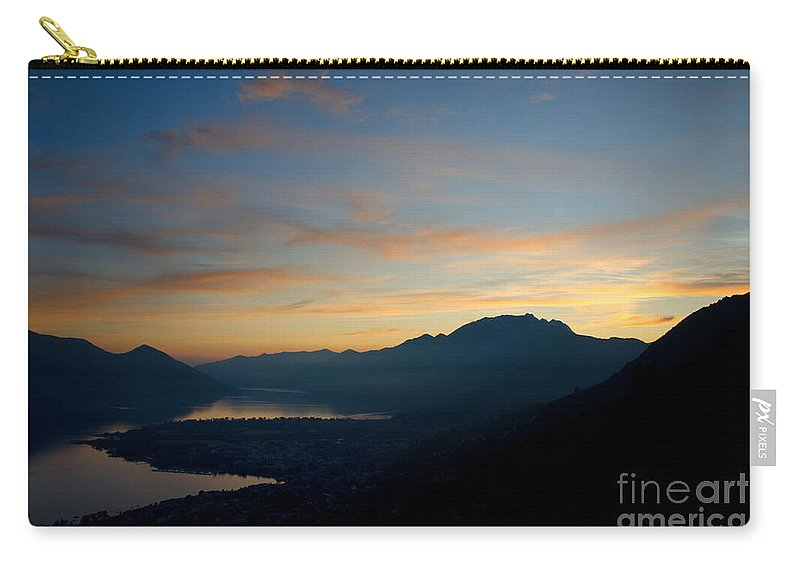 Sunset Carry-all Pouch featuring the photograph Blue Hour Over The Mountain by Mats Silvan